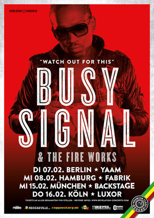 Busy Signal - Germany Tour