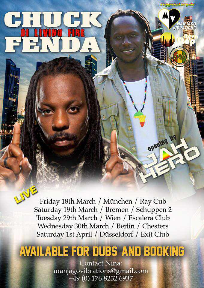 Chuck Fenda & Jah Hero Tour - Spring 2016