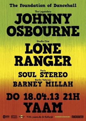 Johnny Osbourne & Lone Ranger Flyer