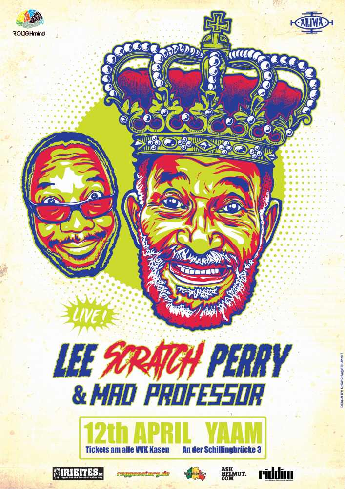 Lee Scratch Perry & Mad Professor - YAAM Poster