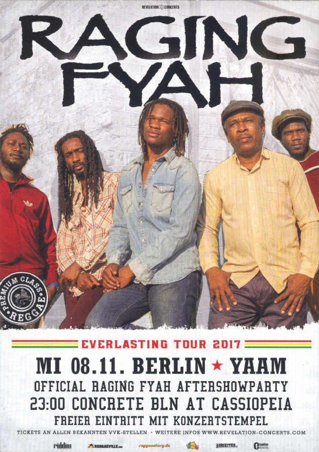 Raging Fyah - YAAM Flyer 2017