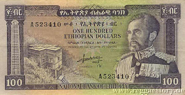 Hundred Ethiopian Dollar - Selassie